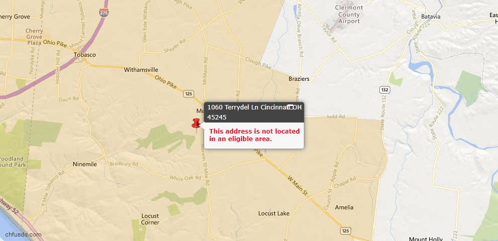 USDA Loan Eligiblity Maps From - Pierce Twp, OH