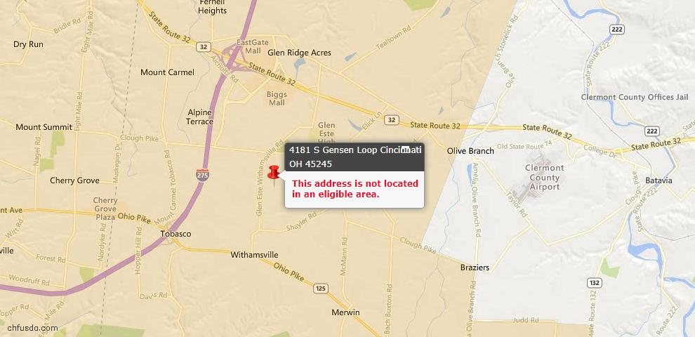 USDA Loan Eligiblity Maps From - Union Twp, OH