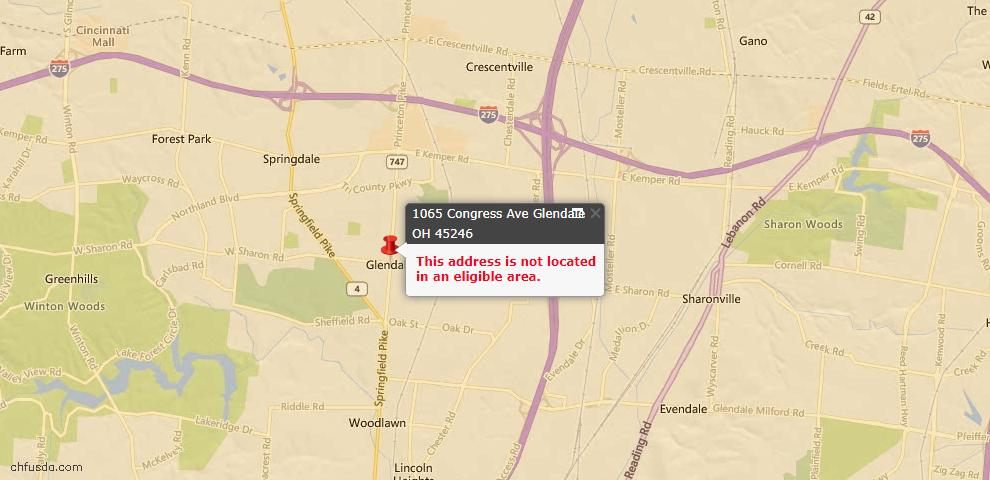 USDA Loan Eligiblity Maps From - Glendale, OH