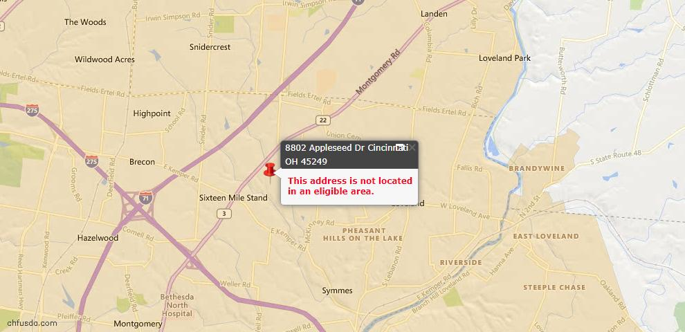 USDA Loan Eligiblity Maps From - Symmes Twp, OH