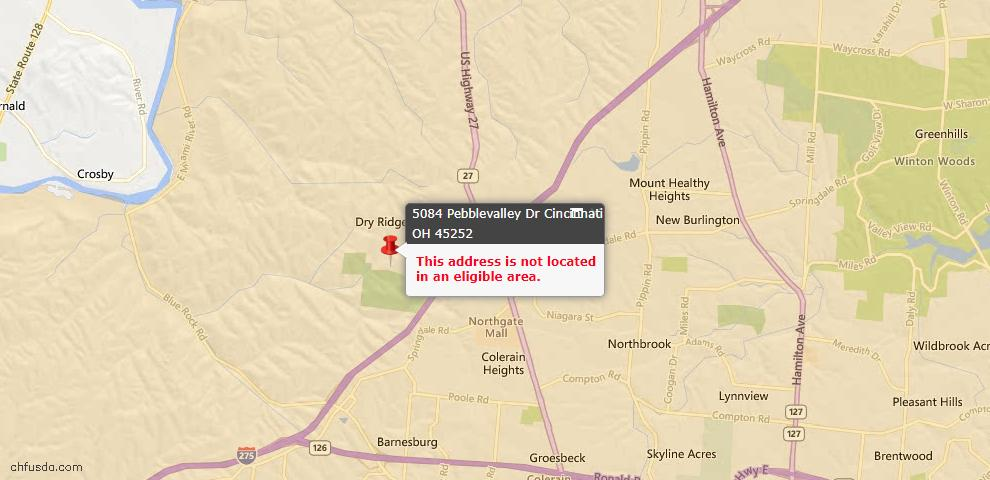 USDA Loan Eligiblity Maps From - Colerain Twp, OH