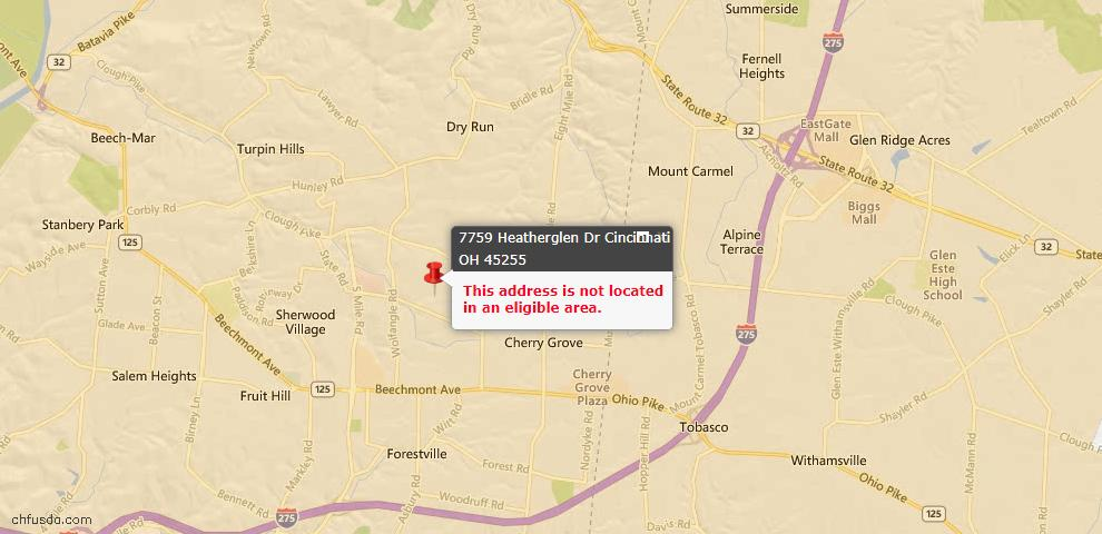 USDA Loan Eligiblity Maps From - Anderson Twp, OH