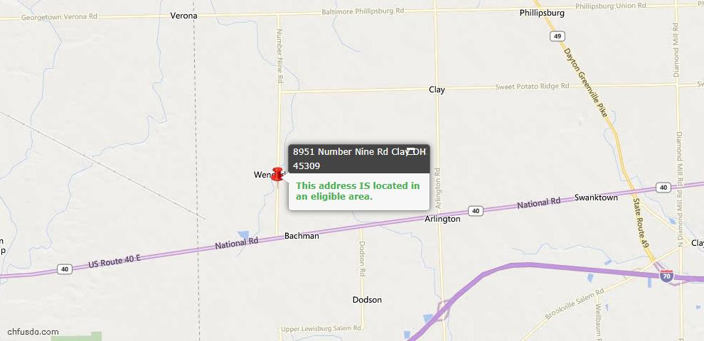 USDA Loan Eligiblity Maps From - Clay Twp, OH