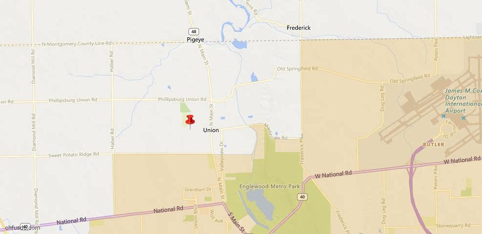 USDA Loan Eligiblity Map - 103 W Boitnott Dr, Englewood, OH 45322
