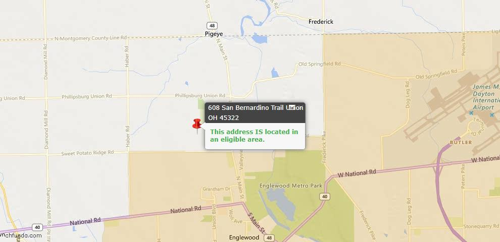 USDA Loan Eligiblity Maps From - Union, OH