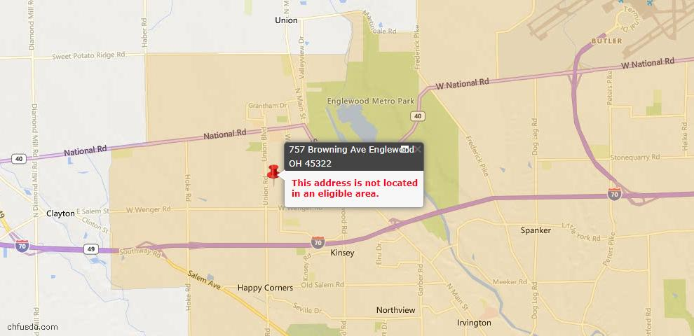 USDA Loan Eligiblity Maps From - Englewood, OH