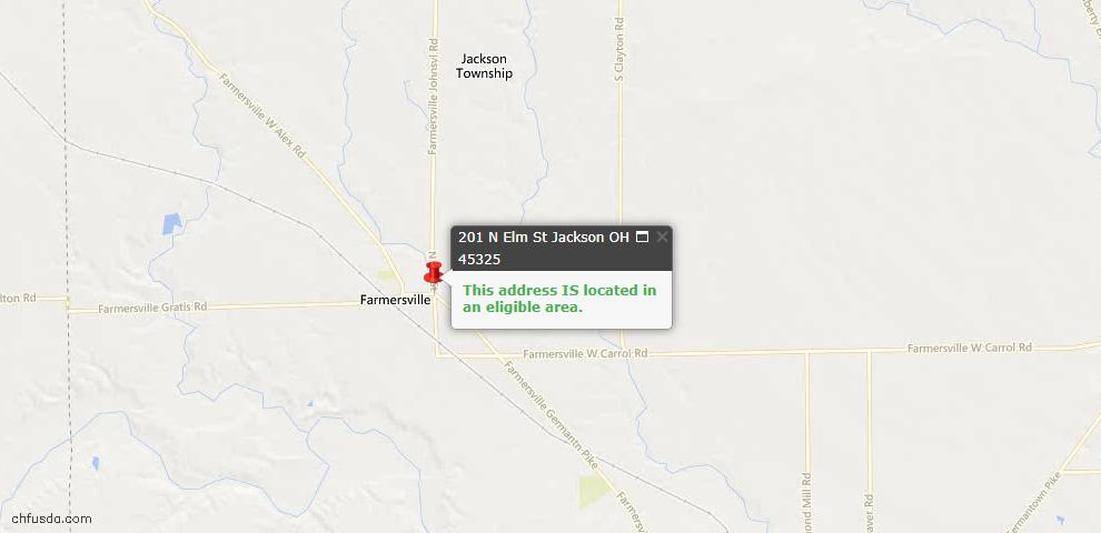 USDA Loan Eligiblity Maps From - Jackson Twp, OH