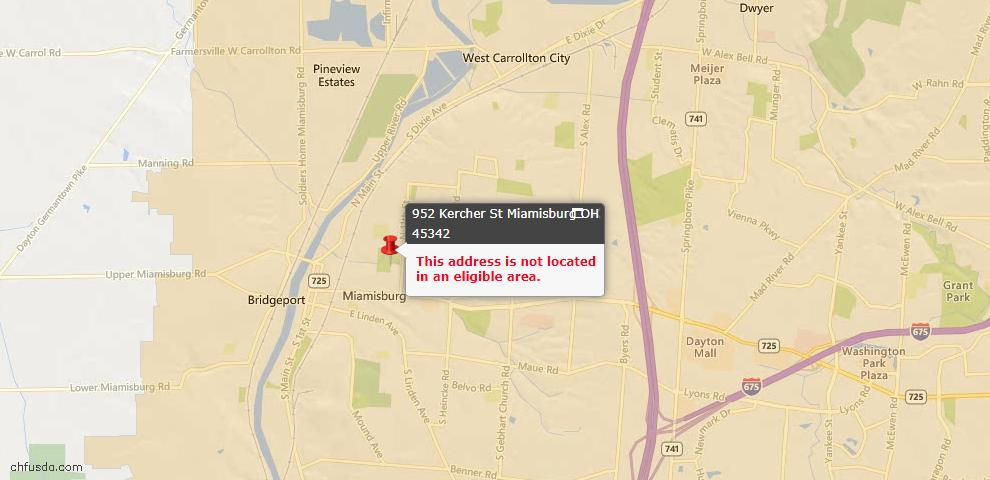 USDA Loan Eligiblity Maps From - Miami Township, OH