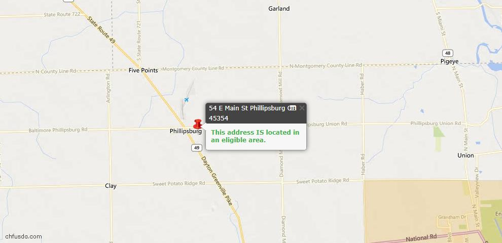 USDA Loan Eligiblity Maps From - Phillipsburg, OH