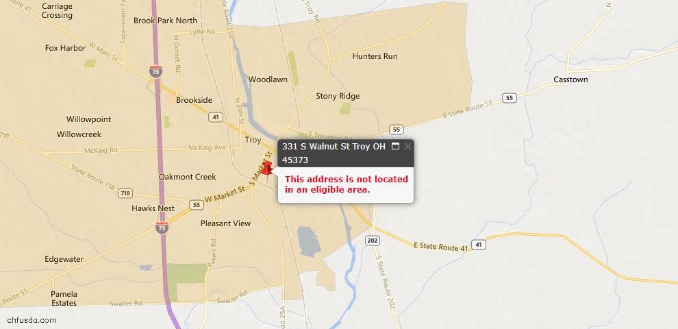 USDA Loan Eligiblity Maps From - Miami County, OH
