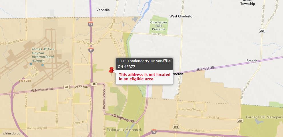 USDA Loan Eligiblity Maps From - Vandalia, OH
