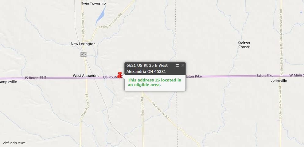 USDA Loan Eligiblity Maps From - Twin Twp, OH