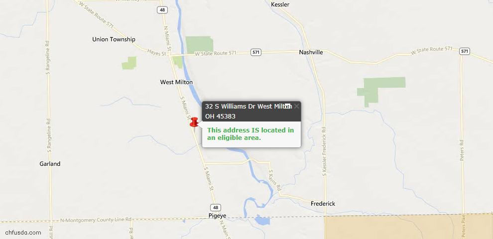 USDA Loan Eligiblity Maps From - West Milton, OH