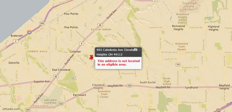 USDA Loan Eligiblity Maps From - Xenia Twp, OH
