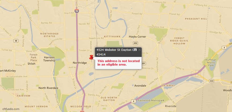 USDA Loan Eligiblity Maps From - Harrison, OH