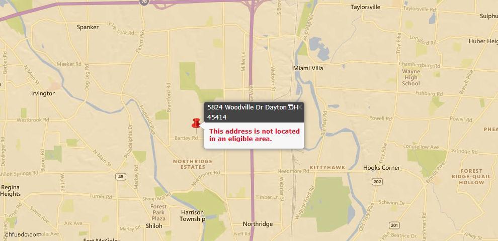 USDA Loan Eligiblity Maps From - Dayton, OH