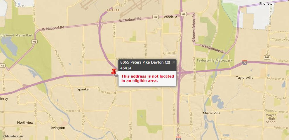 USDA Loan Eligiblity Maps From - Butler Township, OH