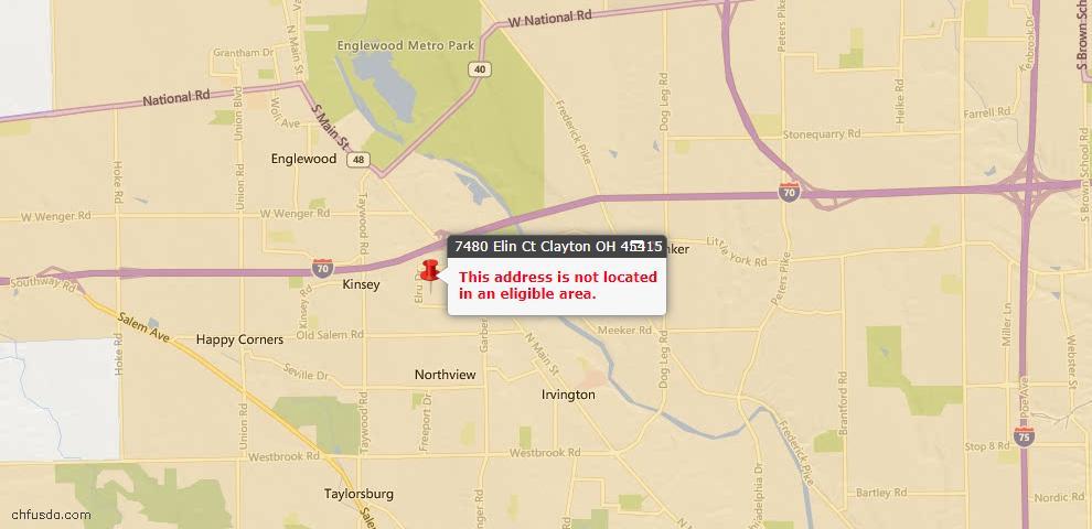 USDA Loan Eligiblity Maps From - Clayton, OH