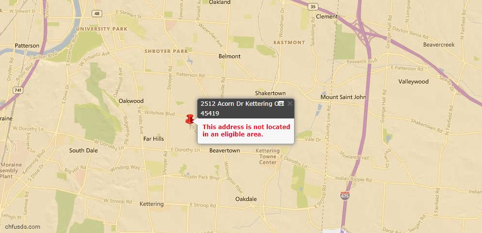 USDA Loan Eligiblity Maps From - Montgomery County, OH