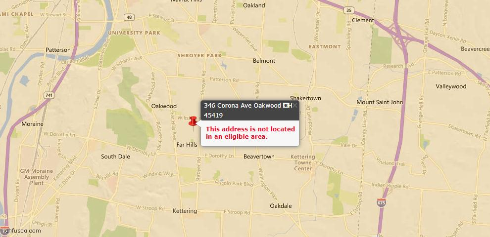 USDA Loan Eligiblity Maps From - Oakwood, OH