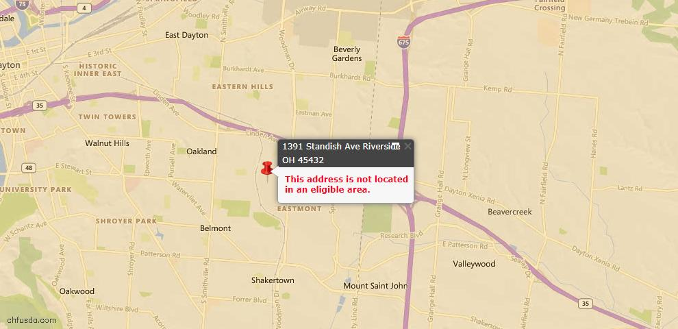 USDA Loan Eligiblity Maps From - Riverside, OH