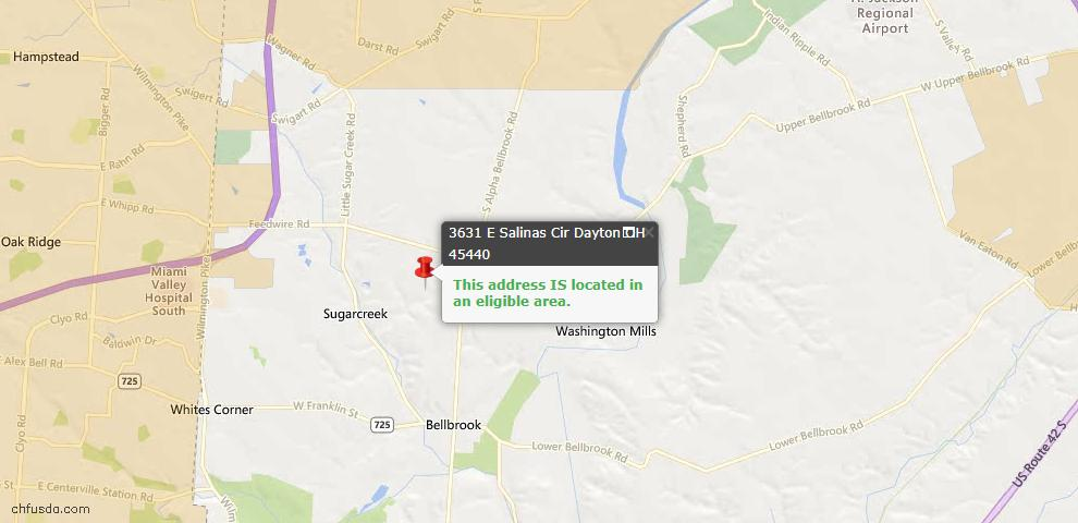 USDA Loan Eligiblity Maps From - Sugarcreek Twp, OH