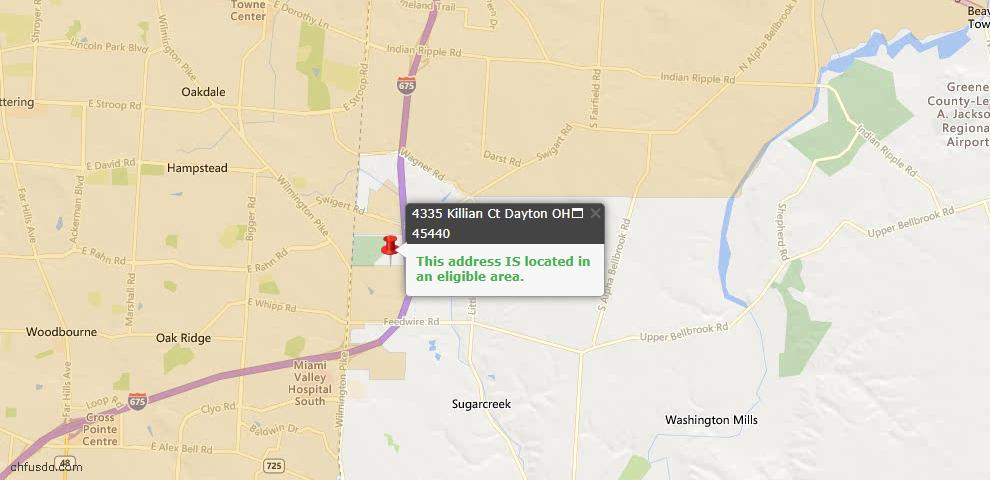 USDA Loan Eligiblity Maps From - Sugarcreek Township, OH