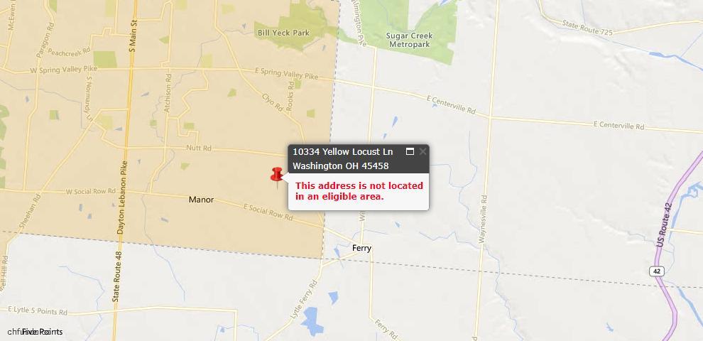 USDA Loan Eligiblity Maps From - Washington Township, OH