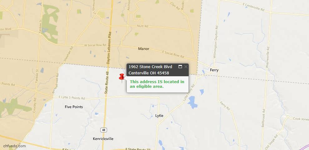 USDA Loan Eligiblity Maps From - Clearcreek Township, OH