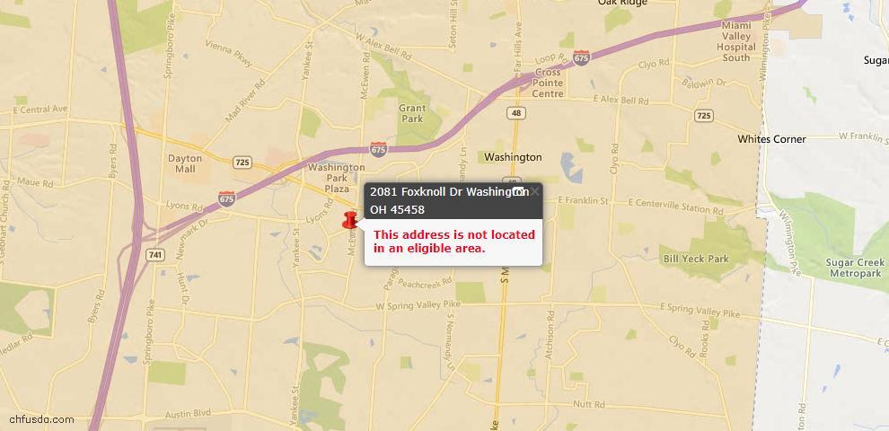 USDA Loan Eligiblity Maps From - Washington Twp, OH