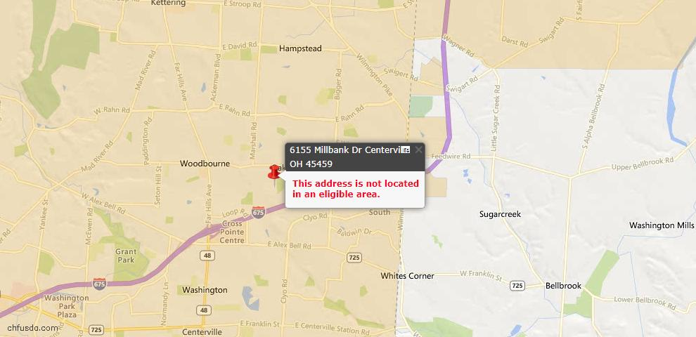 USDA Loan Eligiblity Maps From - Centerville, OH