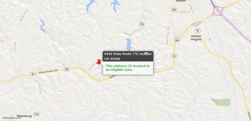 USDA Loan Eligiblity Maps From - Jackson, OH