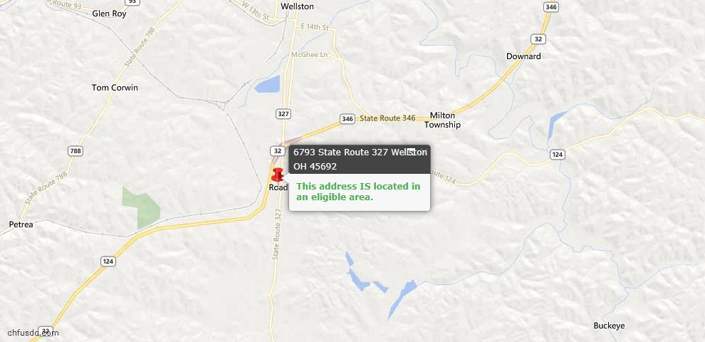 USDA Loan Eligiblity Maps From - Wellston, OH