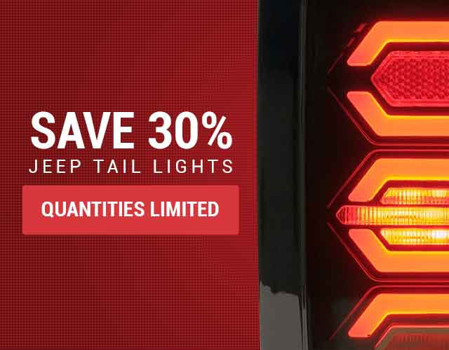 Save 30 percent on Jeep Taillights