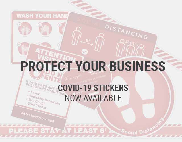 COVID-19 STICKERS NOW AVAILABLE