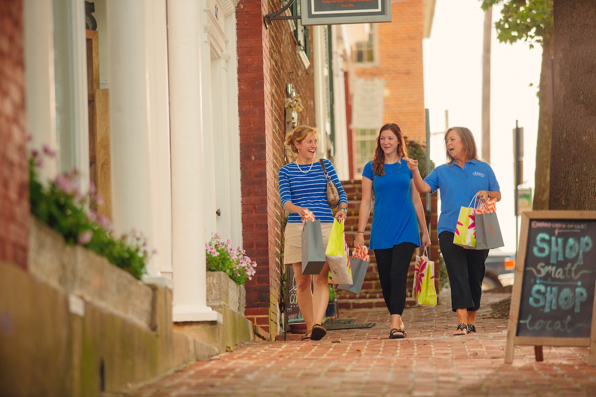 Visit historic downtown Abingdon for unique shopping and dining