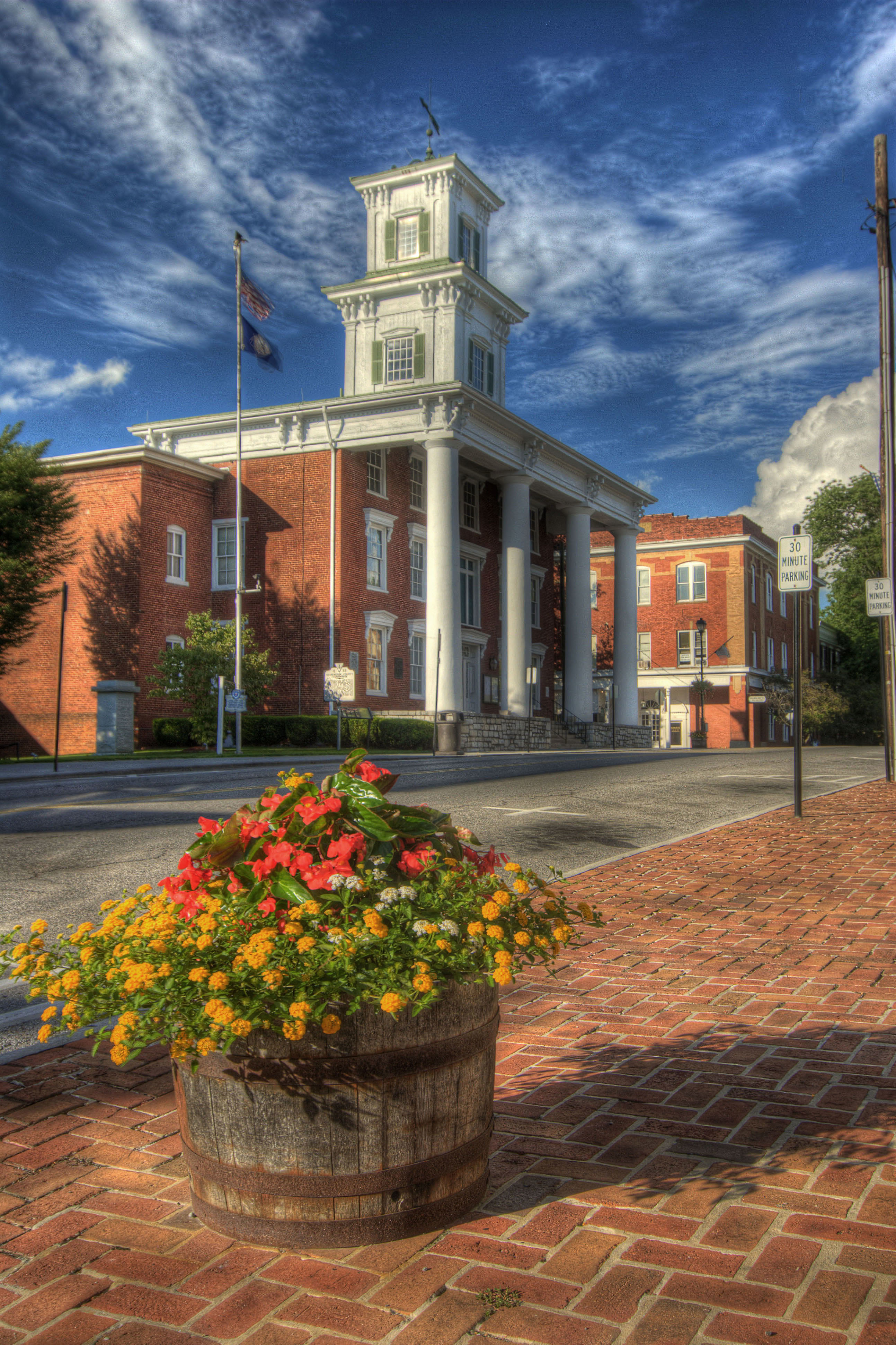 The Courthouse on Main Street in Abingdon, VA