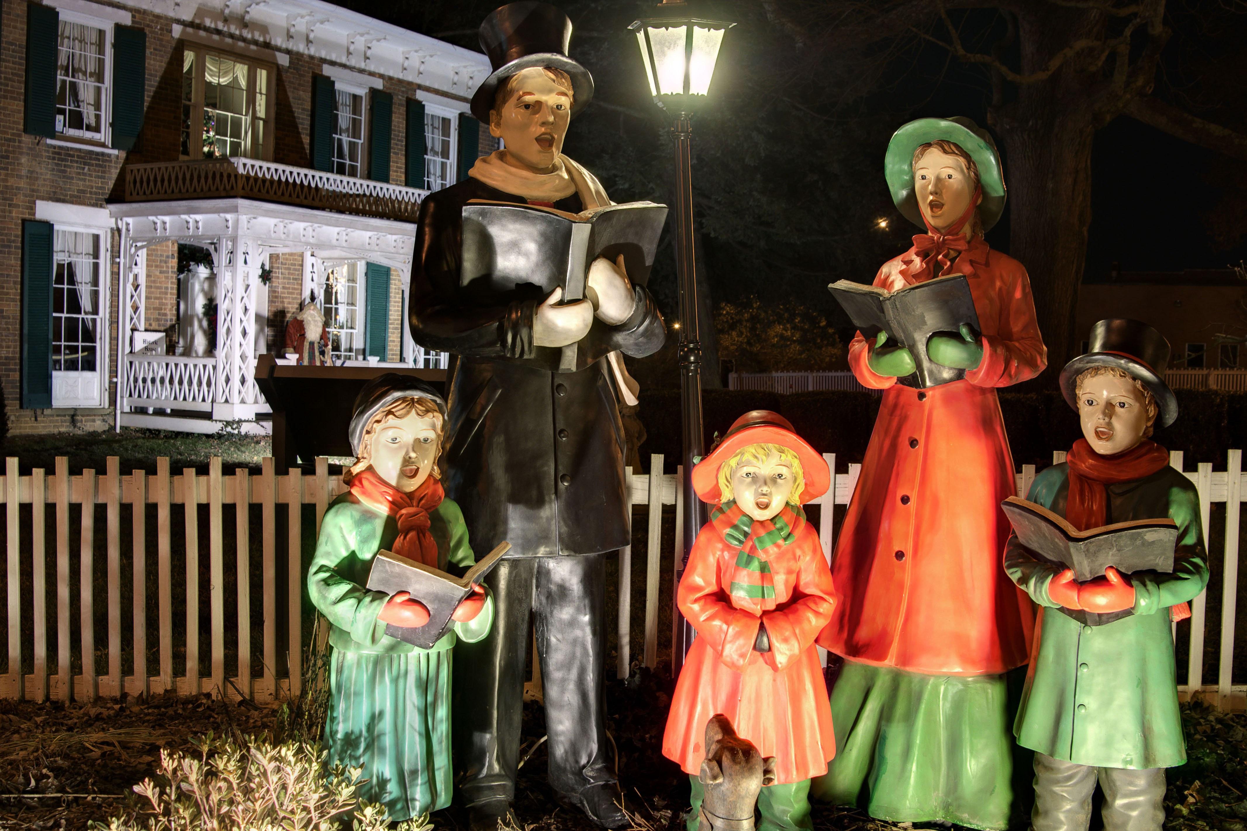 Christmas Carolers in historic Abingdon, VA
