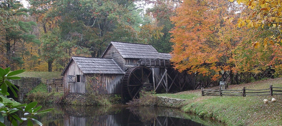 Mabry Mill on the Blue Ridge Parkway in Southwest Virginia.