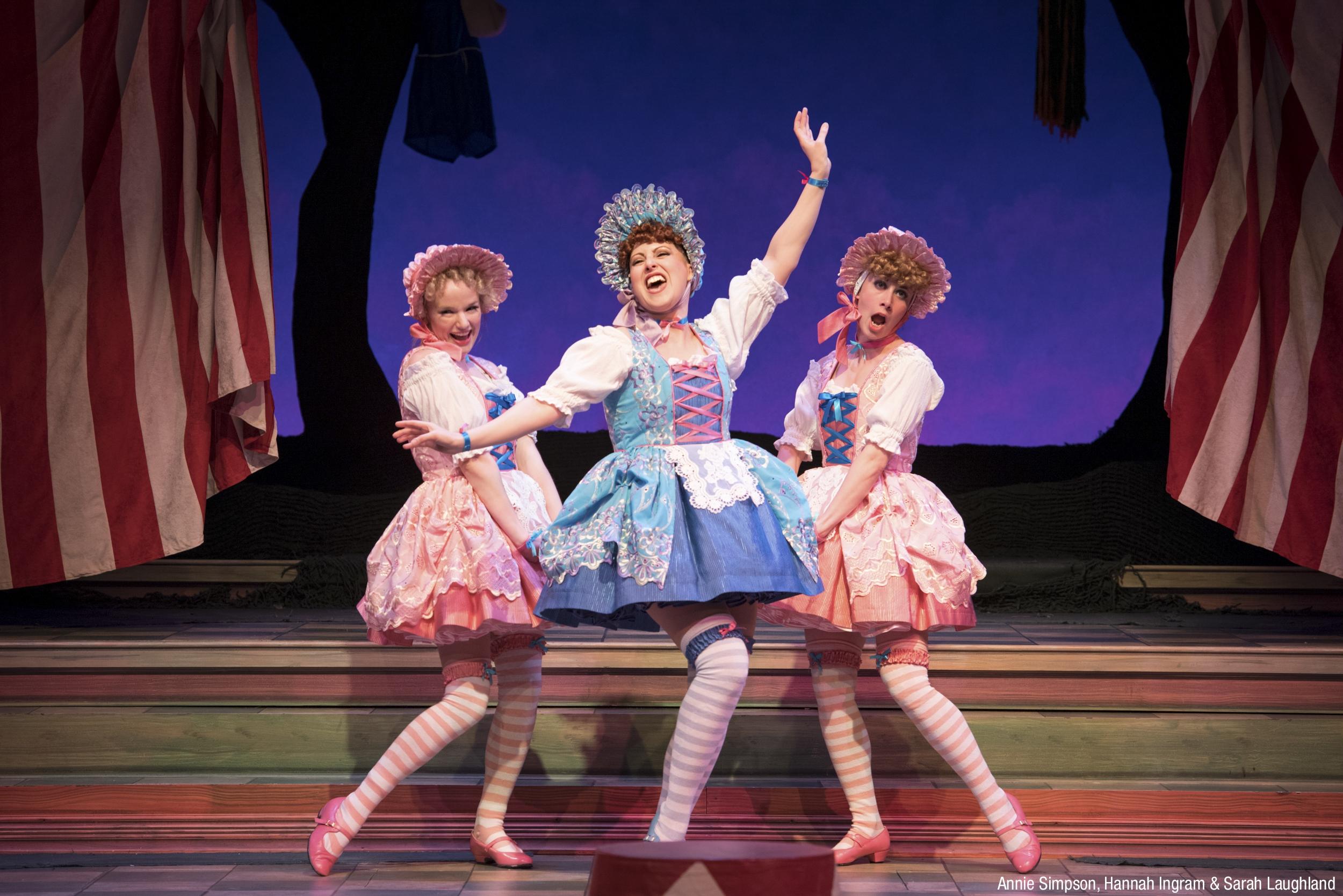 Actors on stage at Barter Theatre in Abingdon, VA