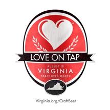 August is Virginia Craft Beer Month logo.