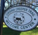 Creeper Trail Welcome Center sign
