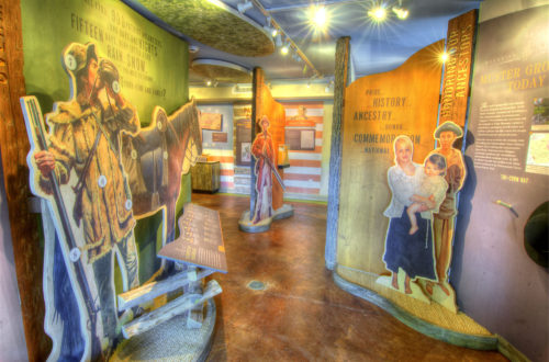 Muster Grounds Keller Interpretive Center interior credit Jason Barnette