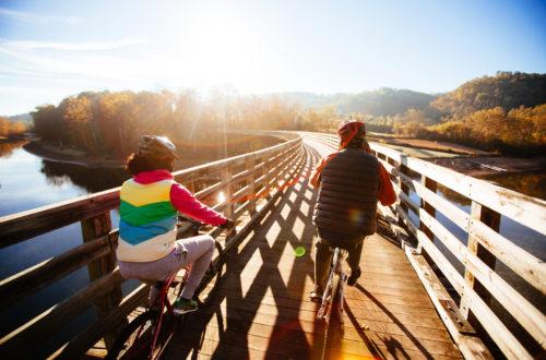 Fall bike ride - South Holston trestle - Sam Dean