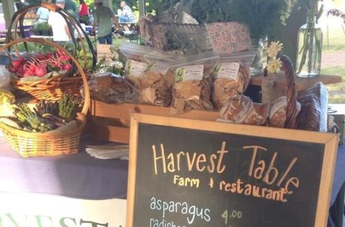 Harvest Table Farmers Market table
