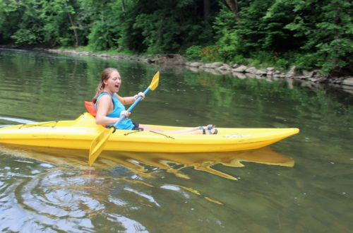 Adventure Mendota kayak girl