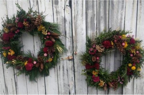 Blue Door garden wreaths