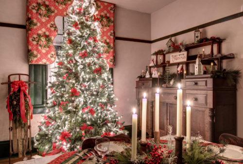 Fields Penn House Christmas interior dining room Jason Barnette