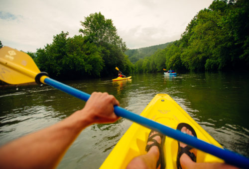 Kayaking N Fork of the Holston POV pic - credit Sam Dean