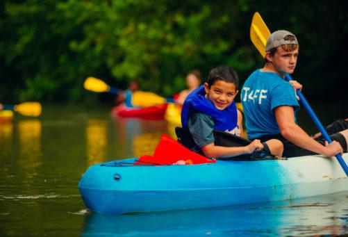 Kid kayaking Adventure mendota credit Sam Dean
